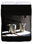Vintage Tin Cups Duvet Cover