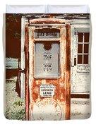 Vintage Tokheim Gas Pump Duvet Cover