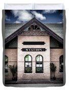 Vintage Train Station Duvet Cover