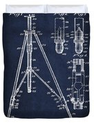 Vintage Tripod Patent Drawing From 1941 Duvet Cover