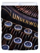 Vintage Typewriter 2 Duvet Cover