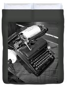 Vintage Typewriter Duvet Cover