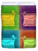 Vintage Typewriter Pop Art 1 Duvet Cover
