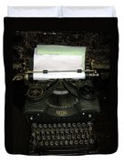 Vintage Typewriter Mechanical Duvet Cover