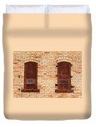 Vintage Urban Brick Building - Salt Lake City Duvet Cover