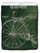 Vintage Velocipede Patent Duvet Cover