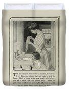 Vintage Victorian Soap Advert Duvet Cover