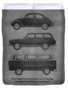 Vintage Volkswagen Ad 1971 Duvet Cover