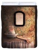Vintage Wash Basin And Pitcher Duvet Cover