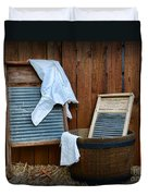 Vintage Washboard Laundry Day Duvet Cover
