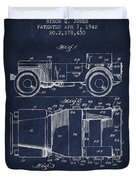 Vintage Willys Jeep Patent From 1942 Duvet Cover