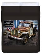 Vintage Willy's Jeep Pickup Truck Duvet Cover