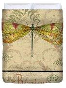 Vintage Wings-paris-e Duvet Cover