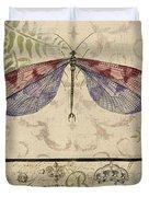Vintage Wings-paris-f Duvet Cover
