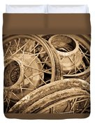 Vintage Wire Wheels Duvet Cover by Steve McKinzie