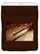 Vintage Wood Drill Duvet Cover