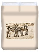 Vintage Zebras Duvet Cover