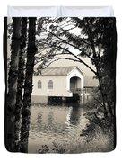 Vintaged Covered Bridge Duvet Cover