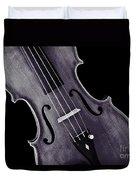 Viola Violin Photograph Strings Bridge In Sepia 3263.01 Duvet Cover