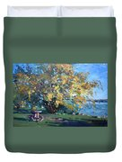 Viola Walking In The Park Duvet Cover