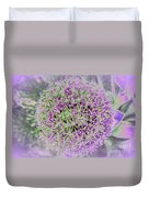 Violet And Green Duvet Cover