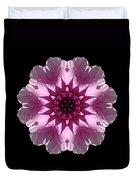Violet And White Dahlia I Flower Mandala Duvet Cover