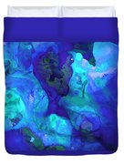 Violet Blue - Abstract Art By Sharon Cummings Duvet Cover