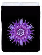 Violet Chrysanthemum Iv Flower Mandala Duvet Cover