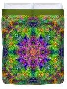 Violet Cosmos Mandala Duvet Cover