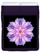 Violet Dahlia I Flower Mandala Duvet Cover