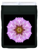 Violet Dahlia II Flower Mandala Duvet Cover