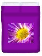 Violet Flower Macro Duvet Cover