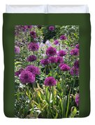 Violet Flowerbed Duvet Cover