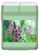 Violet Lilacs Budding Duvet Cover