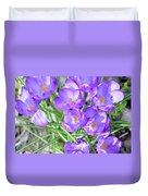 Violet Lilies Duvet Cover