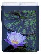 Violet Lily Duvet Cover