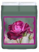 Violet Red Rose Duvet Cover