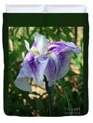 Violet Striped Iris Duvet Cover