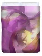 Violet Summer Pastel Abstract Duvet Cover
