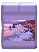 Violet Tides - Rocky Coast From Soberanes Point In Garrapata State  Duvet Cover