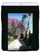 Violet Tree Alley Duvet Cover