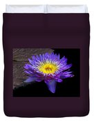 Violet Waterlily Duvet Cover
