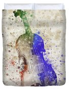 Violin Duvet Cover by Aged Pixel