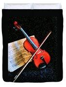Violin Impression Redux Duvet Cover