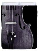 Violin Viola Body Photograph Or Picture In Sepia 3265.01 Duvet Cover