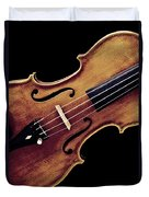 Violin Viola Photograph Strings Bridge In Color 3264.02 Duvet Cover