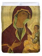 Virgin And Child Duvet Cover by Russian School