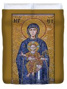 Virgin Mary And Christ Child Duvet Cover