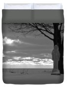 Virgin Mary At Sunset In South Haven Michigan Duvet Cover