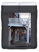 Virginia City Sidewalk  Duvet Cover